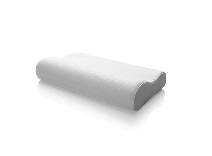 """<strong><a href=""""https://www.amazon.com/Tempur-Pedic-15301115-TEMPUR-Neck-Pillow-Medium/dp/B07BH8RHTD?tag=thehuffingtonp-20"""" rel=""""nofollow noopener"""" target=""""_blank"""" data-ylk=""""slk:The Tempur Neck Pillow"""" class=""""link rapid-noclick-resp"""">The Tempur Neck Pillow</a></strong> is an ergonomic design that was developed by doctors to promote better sleep and proper alignment. It supports the neck and shoulders so they can completely relax, and it contours to your body's natural shape in a side-sleeping position. <strong><a href=""""https://www.amazon.com/Tempur-Pedic-15301115-TEMPUR-Neck-Pillow-Medium/dp/B07BH8RHTD?tag=thehuffingtonp-20"""" rel=""""nofollow noopener"""" target=""""_blank"""" data-ylk=""""slk:Get it on Amazon, $99"""" class=""""link rapid-noclick-resp"""">Get it on Amazon, $99</a></strong>."""