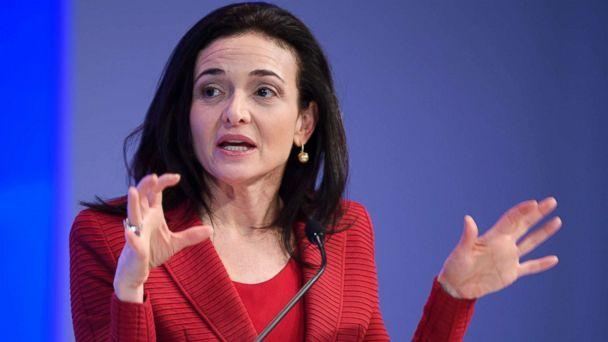 PHOTO: Sheryl Sandberg, Chief Operating Officer (COO) of Facebook, speaks during a session at the Congress centre on the second day of the World Economic Forum, Jan. 18, 2017, in Davos, Switzerland. (Fabrice Coffrini/AFP/Getty Images)