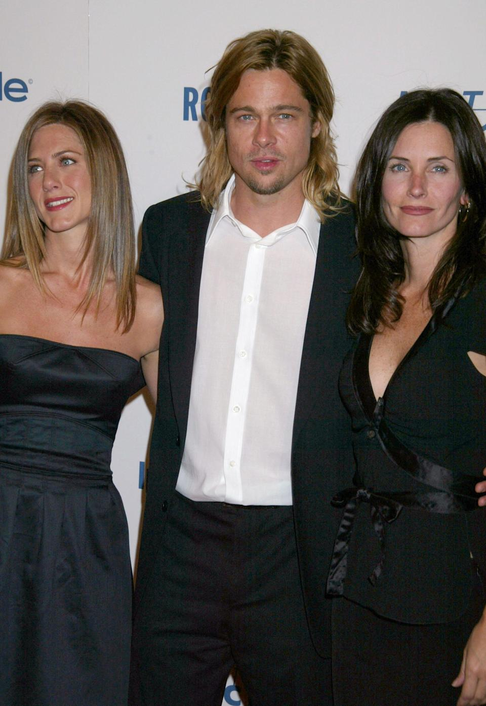 <p>In 2003, it was Jennifer's then-husband Brad Pitt who the two women were photographed on the red carpet. <em>[Photo: Getty]</em> </p>