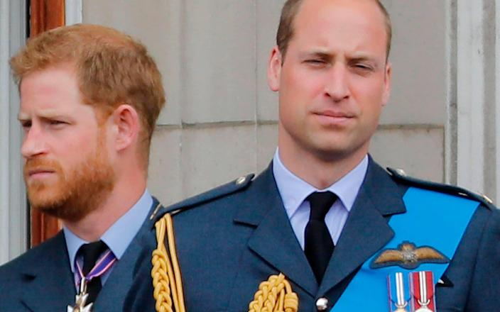 Prince Harry and Prince William - AFP
