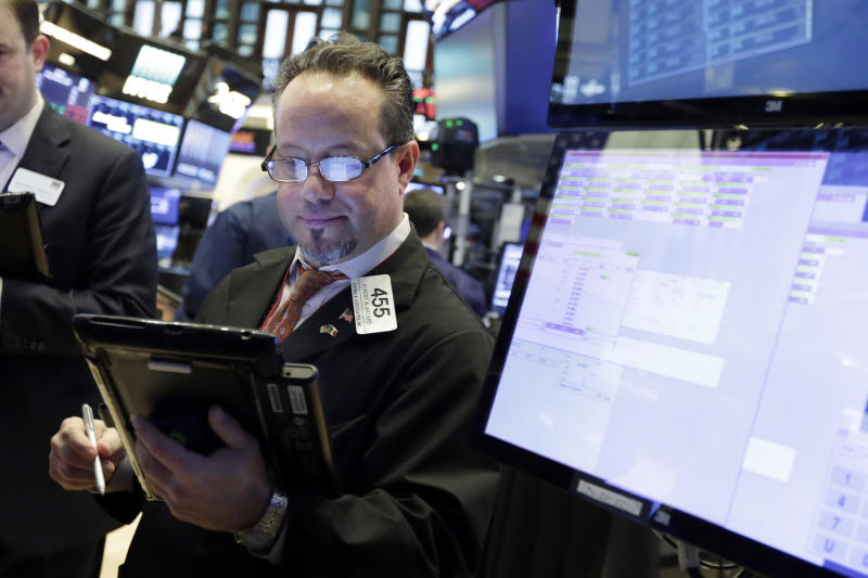 US stocks swing back to gains, Dow up 330 on turbulent day