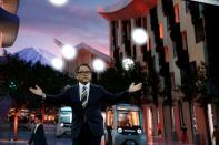 Akio Toyoda, president of Toyota Motor Corporation, announces Toyota's plans to build a prototype city of the future on a 175-acre site at the base of Mt. Fuji in Japan, during the 2020 CES in Las Vegas