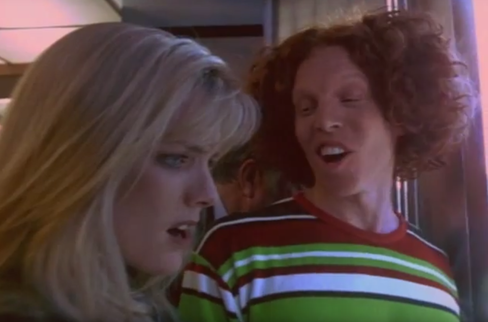 Courtney Thorne-Smith and Carrot Top (Photo: Lionsgate)