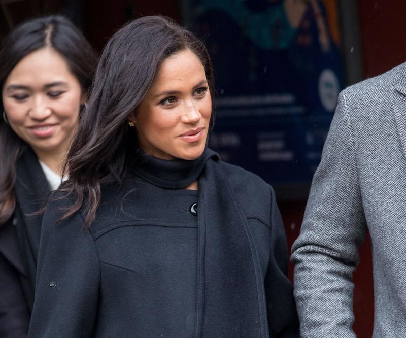 Meghan pictured in Bristol, in February [Photo: PA]