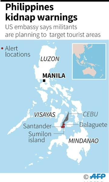 Philippines kidnap warnings