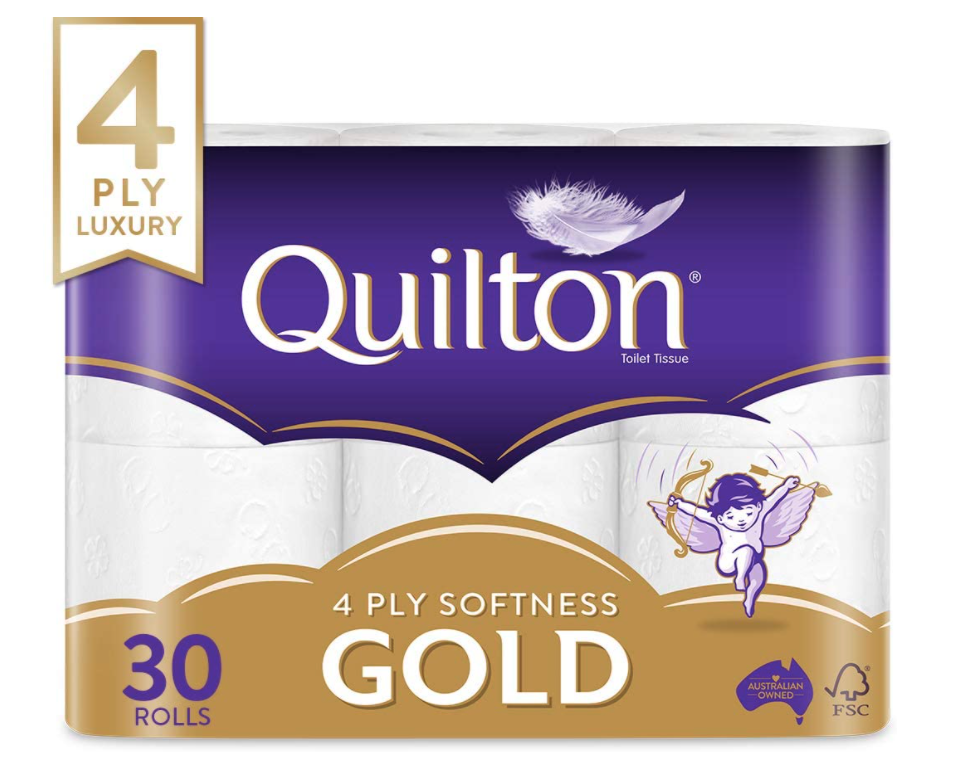 Quilton 4 Ply Toilet Tissue, Pack of 30