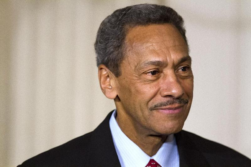 Rep. Mel Watt, D-N.C., listens as President Barack Obama announces Watt as his nominee for the Federal Housing Finance Authority (FHFA) director, Wednesday, May 1, 2013, in the State Dining Room of the White House in Washington. (AP Photo/Jacquelyn Martin)