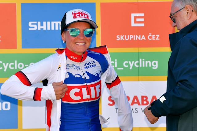 Katerina Nash retains the World Cup lead