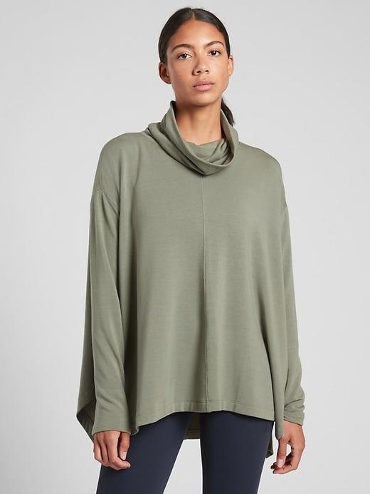 <p>This <span>Athleta Ethereal Brushed Funnel Neck</span> ($79) would look so great with your favorite solid or patterned leggings, too.</p>