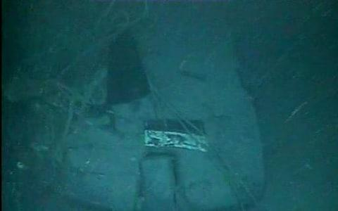 Part of the wreckage of the ARA San Juan, which vanished in the Atlantic Ocean last year - Credit: Argentina's Navy Press Office/AFP