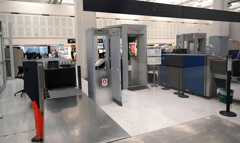 A security checkpoint at the United terminal in Houston's George Bush Intercontinental Airport. (Photo: ASSOCIATED PRESS)