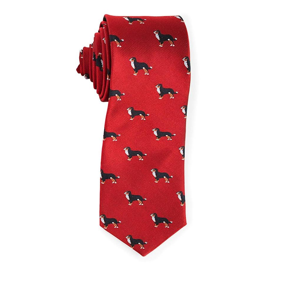 <p>If a dog is his best friend, this <span>Choose Your Dog Breed Necktie</span> ($55) is an absolute must.</p>