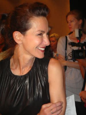 """Cynthia Rowley explains her collection-<br>In two words: """"Scary pretty."""" Rowley describes the garments as mysterious. """"It's like the girl ran away from home and got wet in the rain and the print of her dress is running,"""" says says. """"We didn't set the prints, we hand watercolor dipped them."""""""