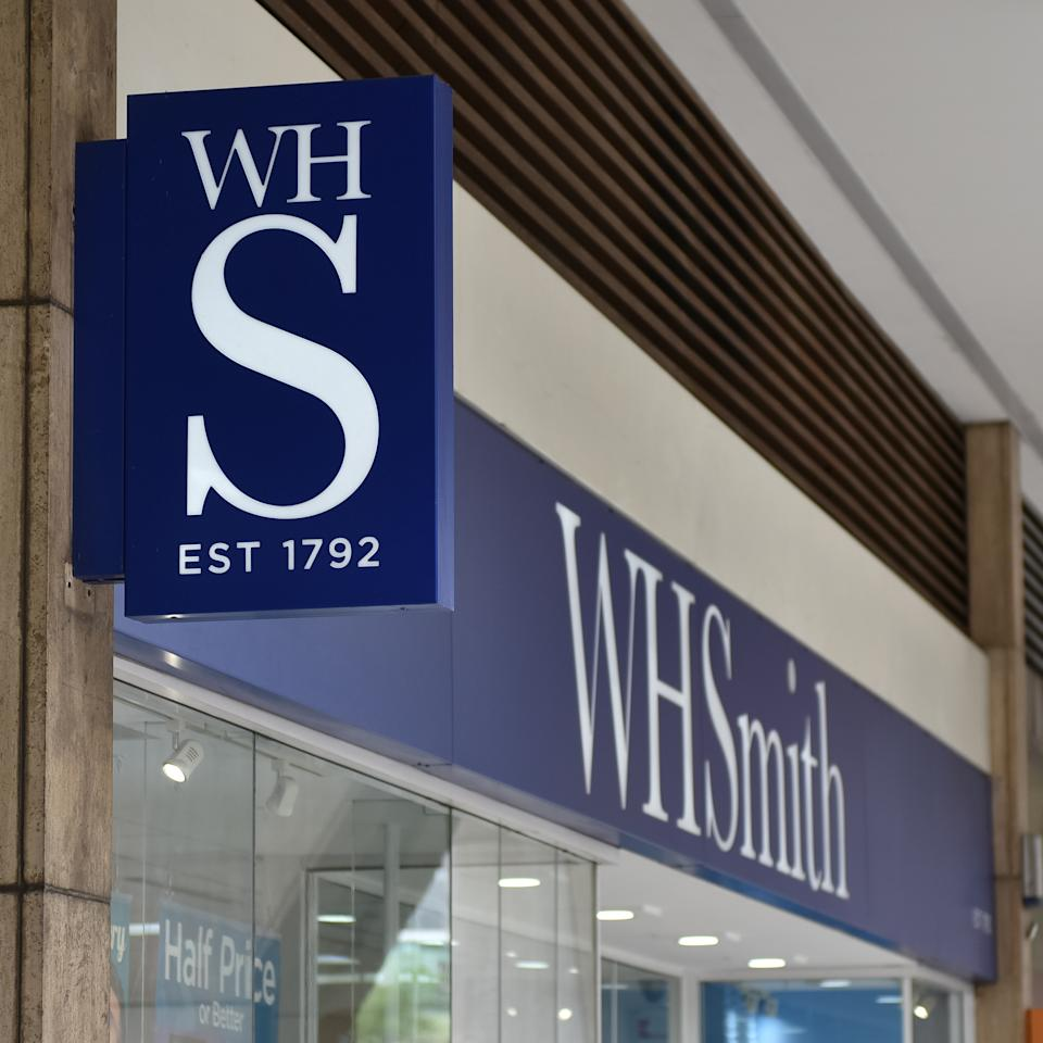 LONDON, ENGLAND - MAY 30: A general exterior view of a WHSmith stationers, newsagents retail store at Holborn on May 30, 2019 in London, England. (Photo by John Keeble/Getty Images)