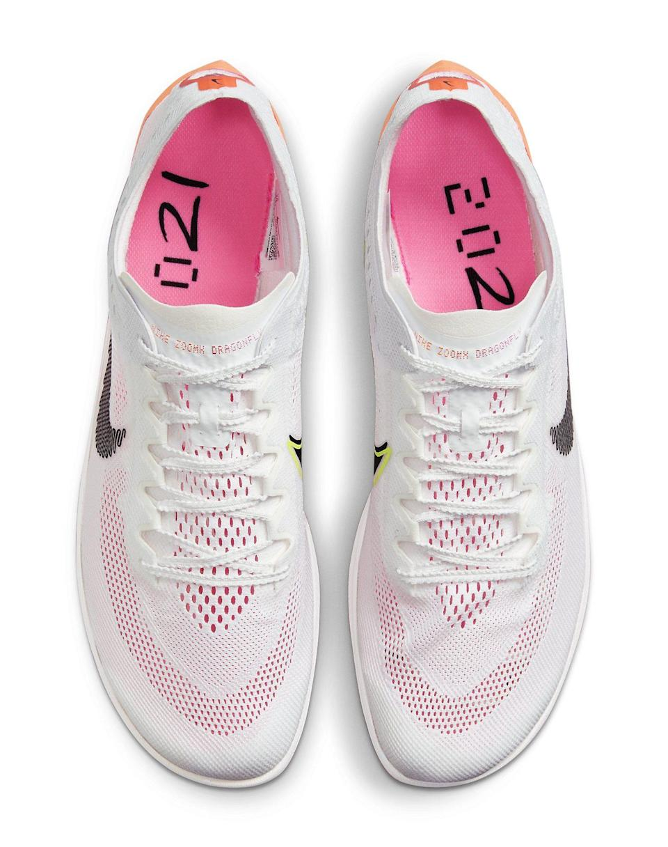 """A top-down view of the Nike ZoomX Dragonfly """"Rawdacious."""" - Credit: Courtesy of Nike"""