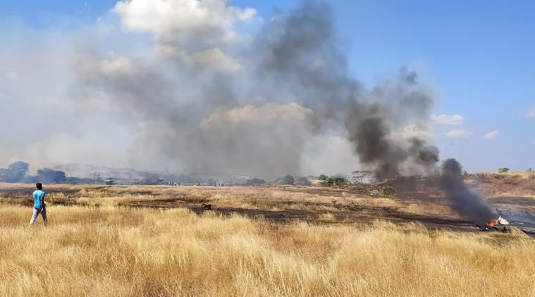 The Ministry of Defence Spokesperson said the trainer aircraft suffered an engine fire.