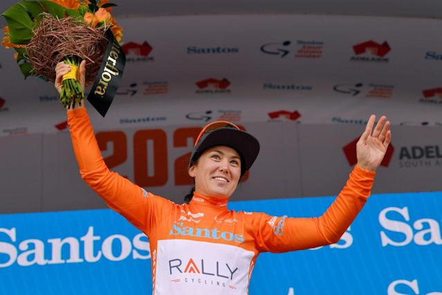 Chloe Hosking wins stage 1 of the 2020 Women's Tour Down Under