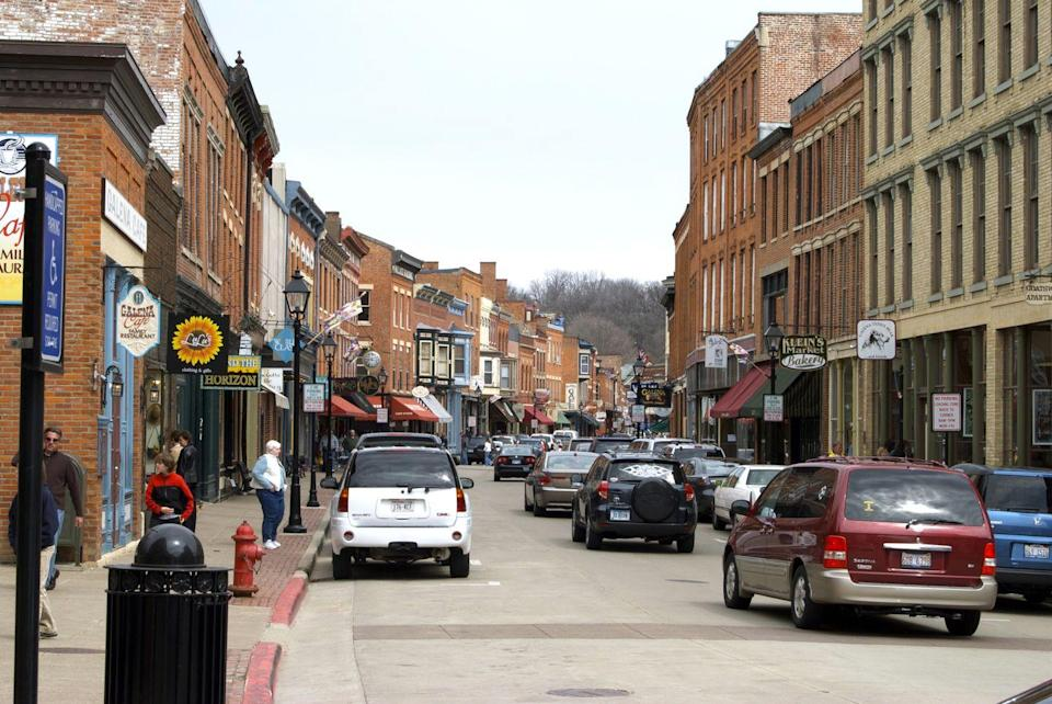 <p>Main Street in Galena Illinois is better-known by it's memorable nickname: Helluva Half-Mile.</p>