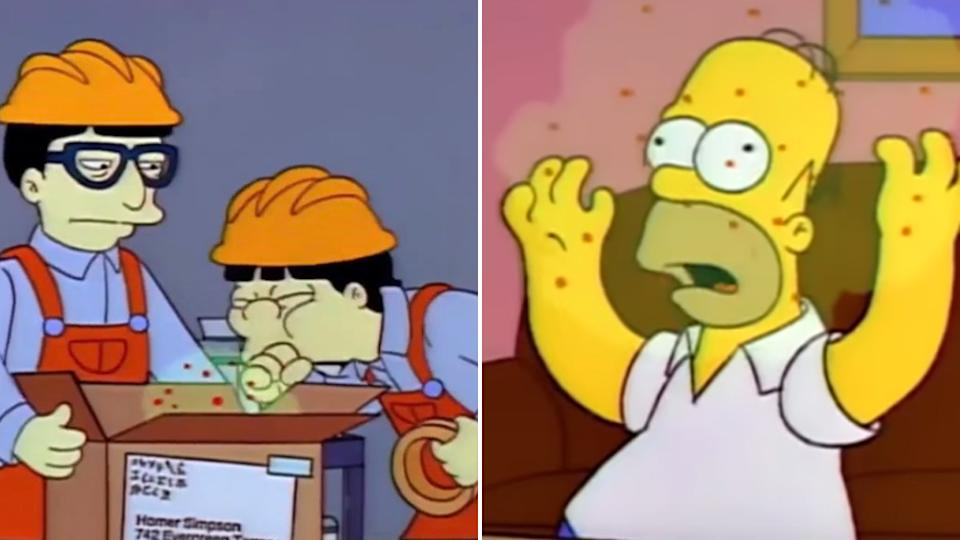 People are claiming The Simpsons predicting the coronavirus in a 1993 episode. Source: The Simpsons