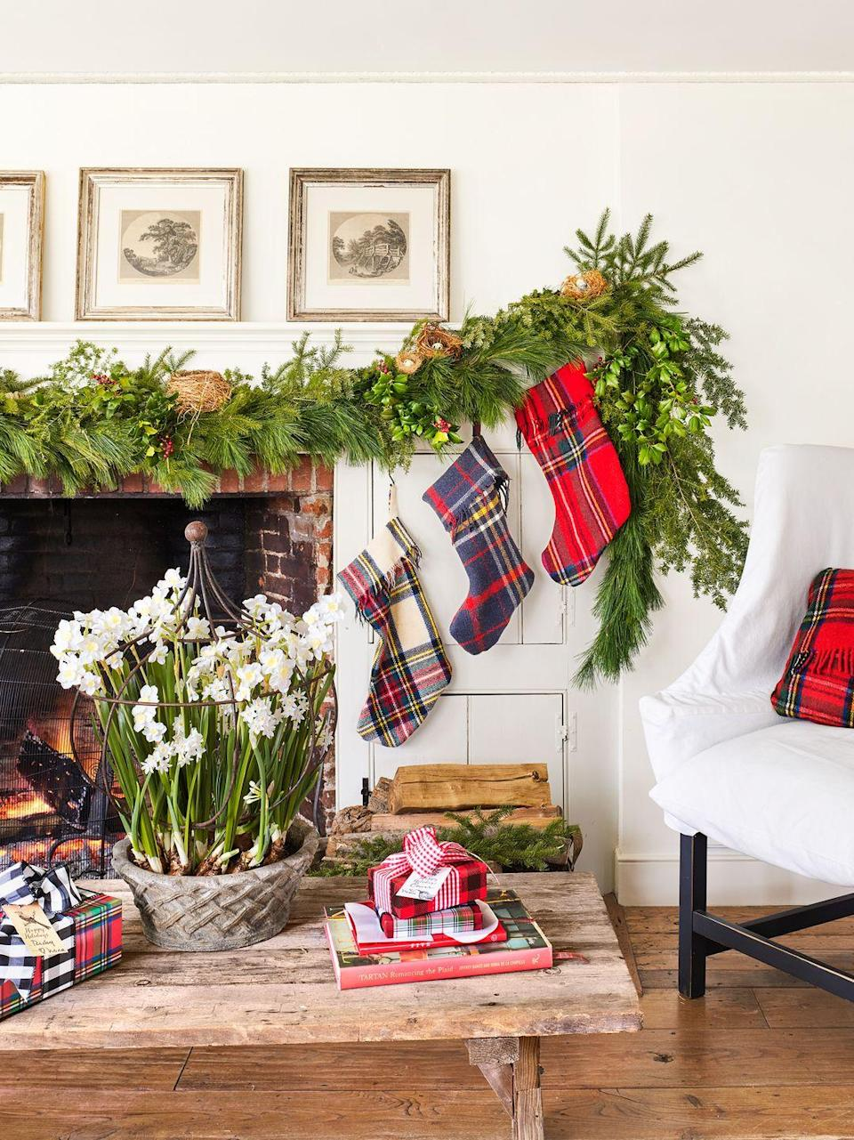 "<p>In just ten minutes, you can transform ordinary pillows into festive couch decor. All you need is a sewing machine and an inexpensive fleece blanket. Get the tutorial at <a href=""https://www.happinessishomemade.net/buffalo-check-plaid-pillows-from-a-3-target-blanket/"" rel=""nofollow noopener"" target=""_blank"" data-ylk=""slk:Happiness is Homemade"" class=""link rapid-noclick-resp"">Happiness is Homemade</a>.</p>"
