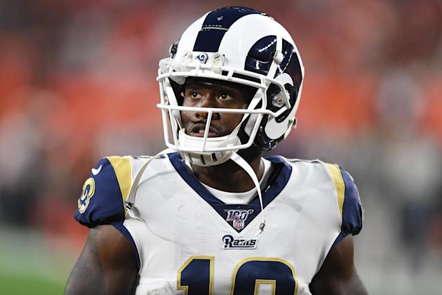 Rams wide receiver Brandin Cooks has five known concussions. (Getty Images)
