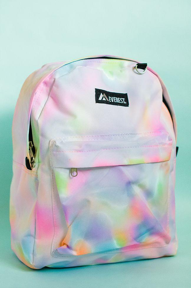 """<p>A <a href=""""https://www.goodhousekeeping.com/childrens-products/kids-backpack-reviews/g149/best-kids-backpacks/"""" rel=""""nofollow noopener"""" target=""""_blank"""" data-ylk=""""slk:backpack"""" class=""""link rapid-noclick-resp"""">backpack</a> should match its owner's personality. So, that means it should be covered in bold and cheery paint!</p><p><em><a href=""""http://www.momtastic.com/diy/559645-diy-rainbow-watercolor-backpack/"""" rel=""""nofollow noopener"""" target=""""_blank"""" data-ylk=""""slk:Get the tutorial at Momtastic »"""" class=""""link rapid-noclick-resp"""">Get the tutorial at Momtastic »</a></em> </p>"""