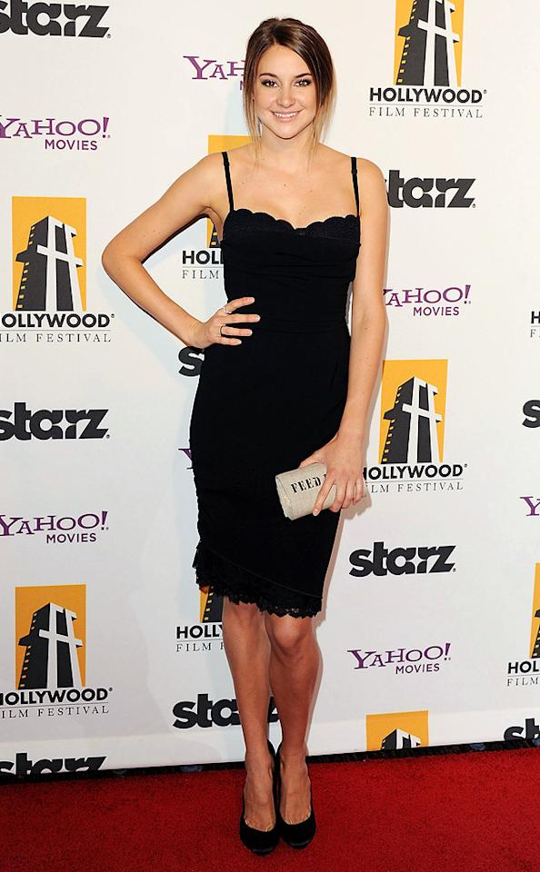 """<a href=""""http://movies.yahoo.com/movie/contributor/1804734325"""">Shailene Woodley</a> at the 15th Annual Hollywood Film Awards in Beverly Hills, California on October 24, 2011."""