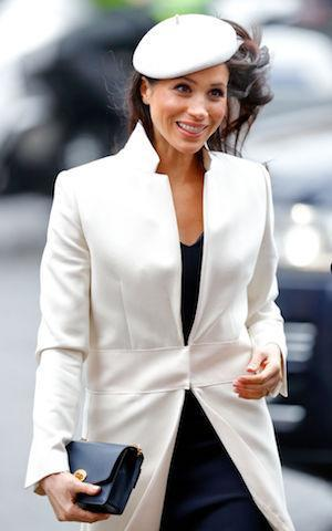 <p>For her debut appearance at the Commonwealth Day service on March 12, Meghan wore a hat for the second time. (Photo: Getty Images) </p>