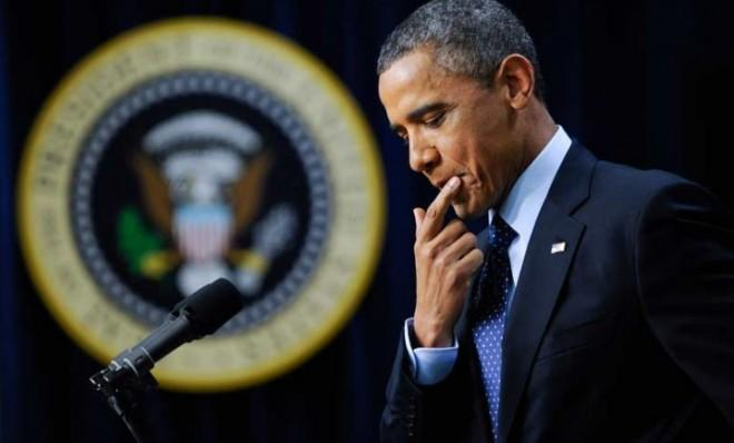 The economy contracted by 0.1 percent in the fourth quarter — certainly unwelcome news for President Obama... right?
