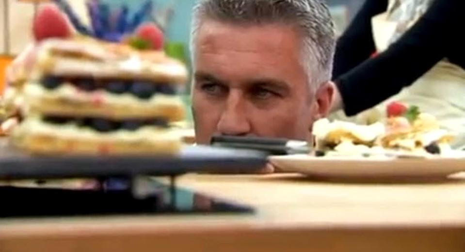 """<p>This U.K. reality series features amateur bakers competing against each other in a series of increasingly difficult rounds on the grounds of a beautiful estate. It's a delight. There's truly no better way to spend a Tuesday night than watching British people bake brownies and be absolutely lovely towards one another. </p> <p><a href=""""https://www.netflix.com/title/80063224"""" rel=""""nofollow noopener"""" target=""""_blank"""" data-ylk=""""slk:Available to stream on Netflix"""" class=""""link rapid-noclick-resp""""><em>Available to stream on Netflix</em></a></p>"""