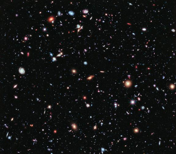 Called the eXtreme Deep Field, or XDF, the photo was assembled by combining 10 years of NASA Hubble Space Telescope photographs taken of a patch of sky at the center of the original Hubble Ultra Deep Field. The XDF is a small fraction of the an