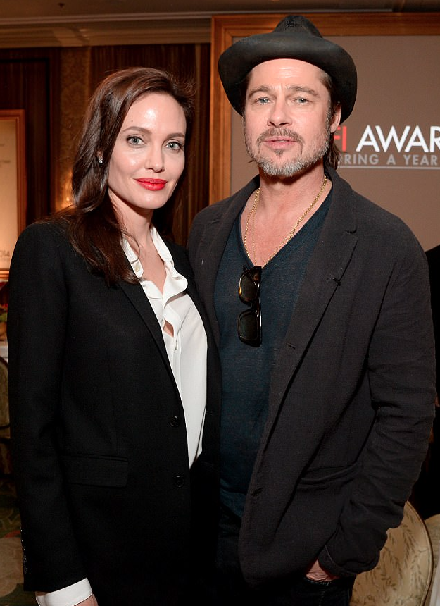 Angelina Jolie and Brad Pitt attend the AFI awards in 2015. Source: Getty