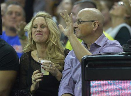 Nov 23, 2016; Cleveland, OH, USA; Cleveland Indians manager Terry Francona waves during a game between the Cleveland Cavaliers and the Portland Trail Blazers at Quicken Loans Arena. Mandatory Credit: David Richard-USA TODAY Sports