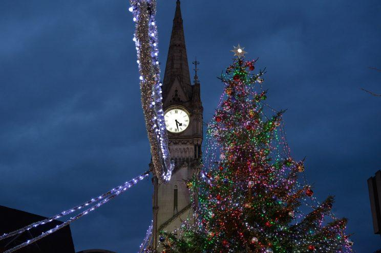 Leicester City Council's Christmas tree has been branded a disgrace