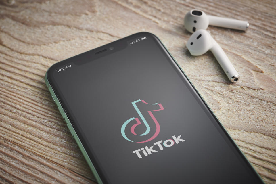 An Apple iPhone 11 smartphone with the TikTok video sharing app logo on screen, taken on January 27, 2020. (Photo by Phil Barker/Future Publishing via Getty Images)