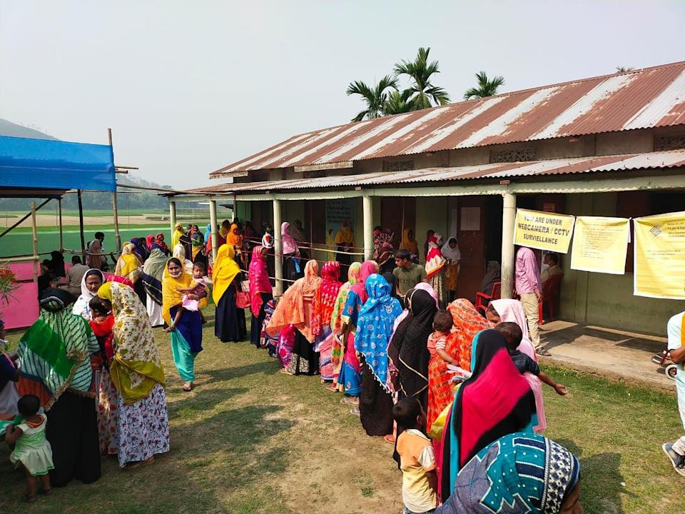 A Polling Booth in Goalpara District
