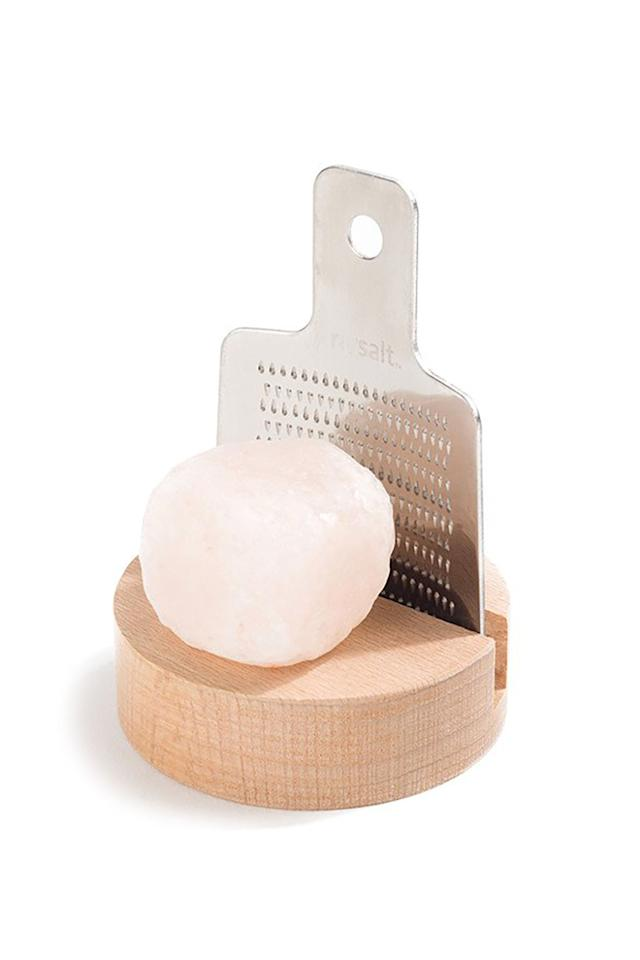 """<p>For the foodie goddesses who don't mess with your average sea salt, here's a pink rock salt grater so theygetmore of that freshflavor.</p><p><strong></strong></p><p><strong>Rivsalt Himalayan Salt & Grater, $24;<a rel=""""nofollow"""" href=""""https://www.poketo.com/collections/new/products/himalayan-salt-grater-set"""">poketo.com</a>.</strong></p>"""