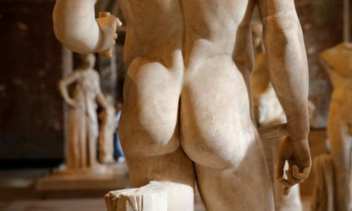 Race to the bottom: curators in battle for best museum bum