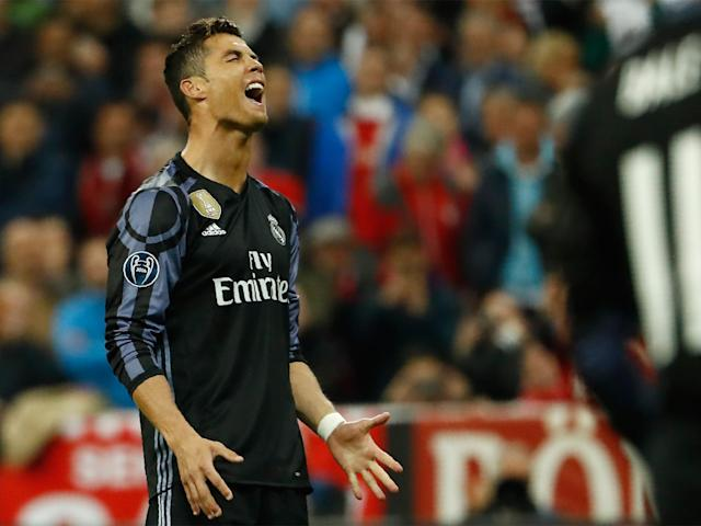 Cristiano Ronaldo saw an early free-kick fly well over the bar: Getty