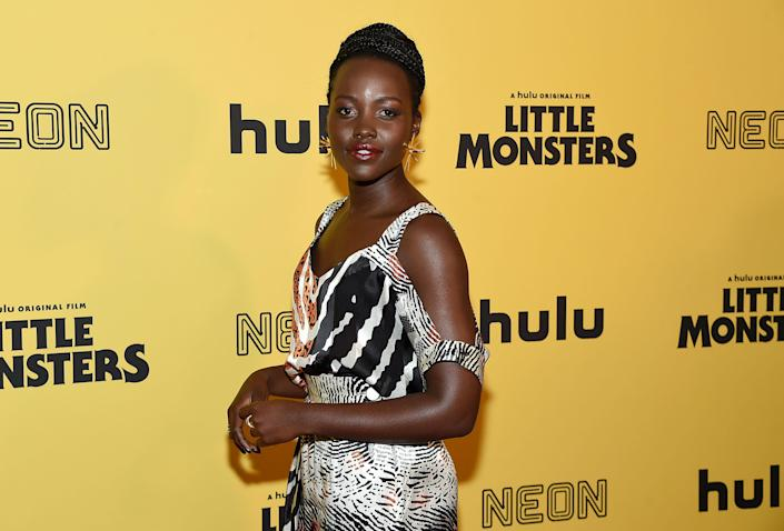 """NEW YORK, NEW YORK - OCTOBER 08: Lupita Nyong'o attends the New York premiere of """"Little Monsters"""" at AMC Lincoln Square Theater on October 08, 2019 in New York City. (Photo by Jamie McCarthy/Getty Images)"""