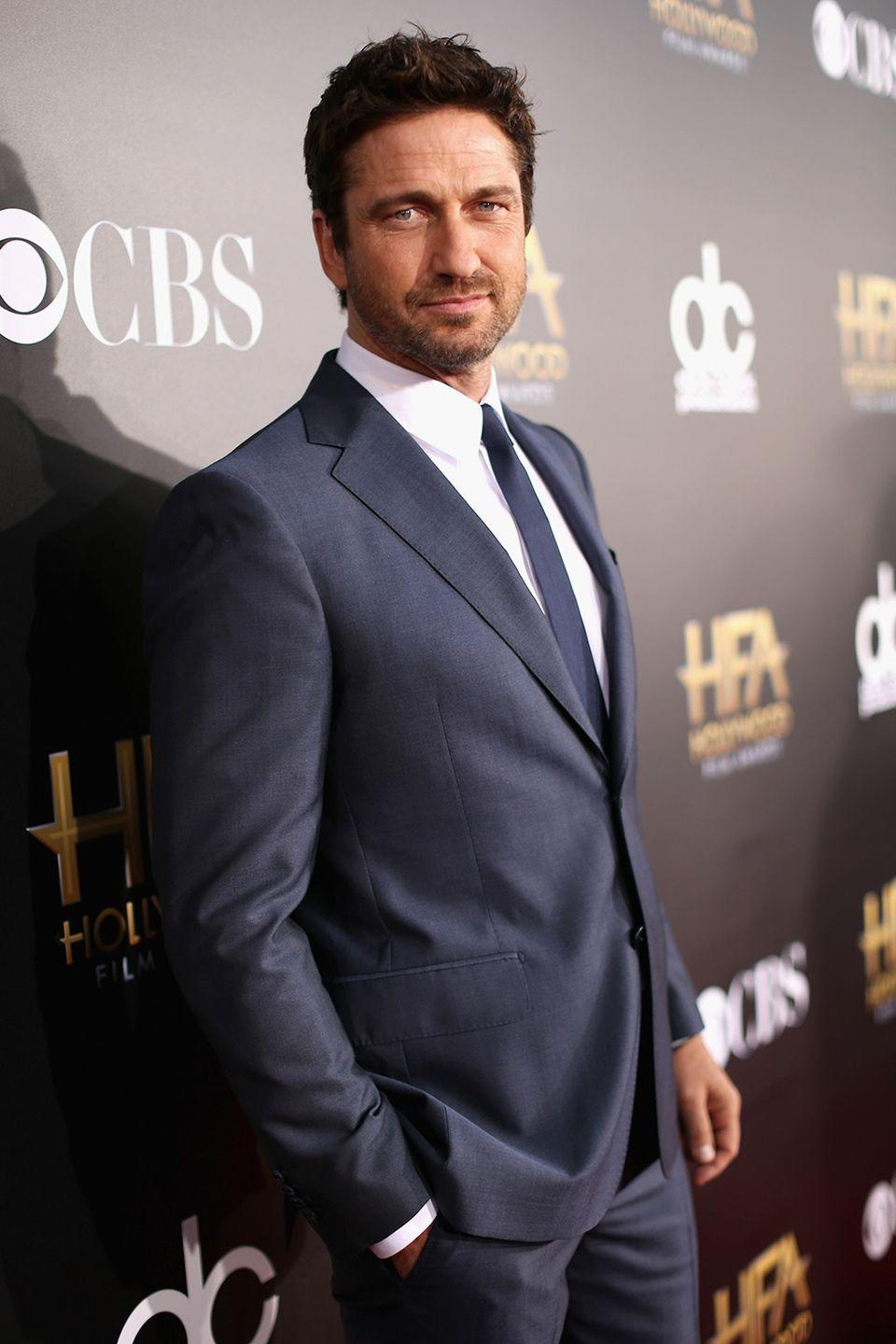 """<p>The Scottish actor struggled for years with addictions to both drugs and alcohol before seeking treatment. Now 20 years later, Butler is still embracing the sober life. </p><p>H/T: <a href=""""http://www.usmagazine.com/celebrity-news/news/gerard-butler-finally-opens-up-about-rehab-i-havent-had-a-drink-in-15-years-20121910"""" rel=""""nofollow noopener"""" target=""""_blank"""" data-ylk=""""slk:Us Weekly"""" class=""""link rapid-noclick-resp"""">Us Weekly</a></p>"""