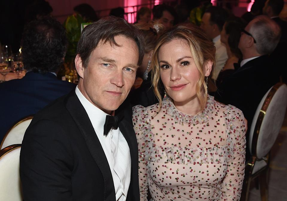File image: Stephen Moyer and Anna Paquin at the 27th annual Elton John AIDS Foundation Academy Awards Viewing Party  (Getty Images)