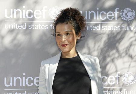 Mariane Pearl arrives at the first annual UNICEF Women of Compassion Luncheon in  Los Angeles