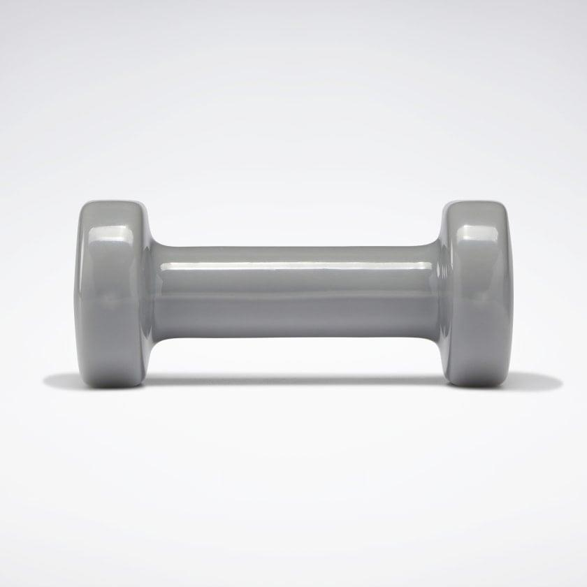 <p>These four-pound <span>dumbbells</span> ($20) from Reebok come in a gray that coordinates with anyone's gym decor. </p>