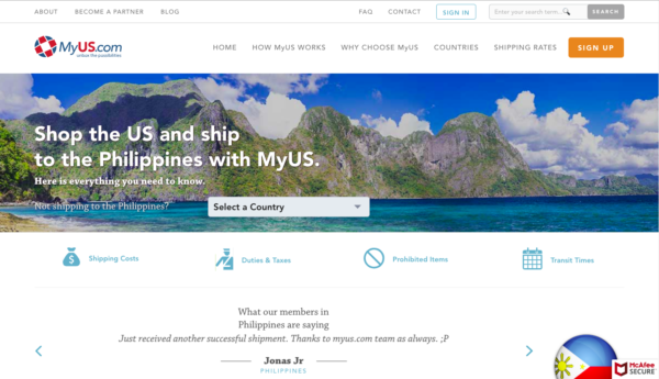 international shipping companies - myus