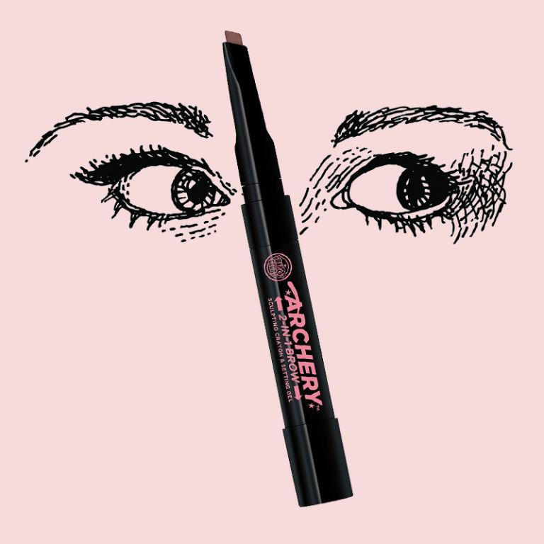 """<p><strong>Archery Brow Putty by Soap & Glory, $12, <a rel=""""nofollow"""" href=""""http://www.target.com/p/soap-glory-archery-2in1-crayon-gel-brown-n-out-06-oz/-/A-51183001?ref=tgt_adv_XS000000&AFID=google_pla_df&CPNG=PLA_Health+Beauty+Shopping&adgroup=SC_Health+Beauty&LID=700000001170770pgs&network=g&device=c&location=9067609&gclid=CjwKEAjw_PfGBRDW_sutqMbQsmMSJAAMpUap0U_jieZ79jHVv9O4s0IwLPJdnNvSsjvD0pvgO7tODhoCVtXw_wcB&gclsrc=aw.ds""""><span>target.com</span></a></strong><strong>.</strong></p><p><strong>Nicola Dall'asen, beauty writer, @nikkidallasen</strong> </p><p><strong>What It's Good For: </strong>The application brush on this thing is the thinnest and most compact I've ever used—it's ideal for those who like to do some serious line work and shading on their brows in the morning like I do.</p><p><strong>What It's Meh For:</strong> The putty itself stays put all day and night, but the the way it's stored doesn't allow for much product. It's kept in a little twist-off compartment at the bottom of the brush, so getting the product on the brush is a little more difficult than it has to be.</p><p><strong>How to Use It:</strong> If you usually use any pomade/gel/putty and brush combination, you'll have no trouble with Archery. Simply dip—or in the slightly pesky packaging's case, scrape—the brush through the putty and draw wherever you see fit. As per my usual routine, I begin with a sharp, bold line at the bottom of my brow and fade it upwards.</p>"""