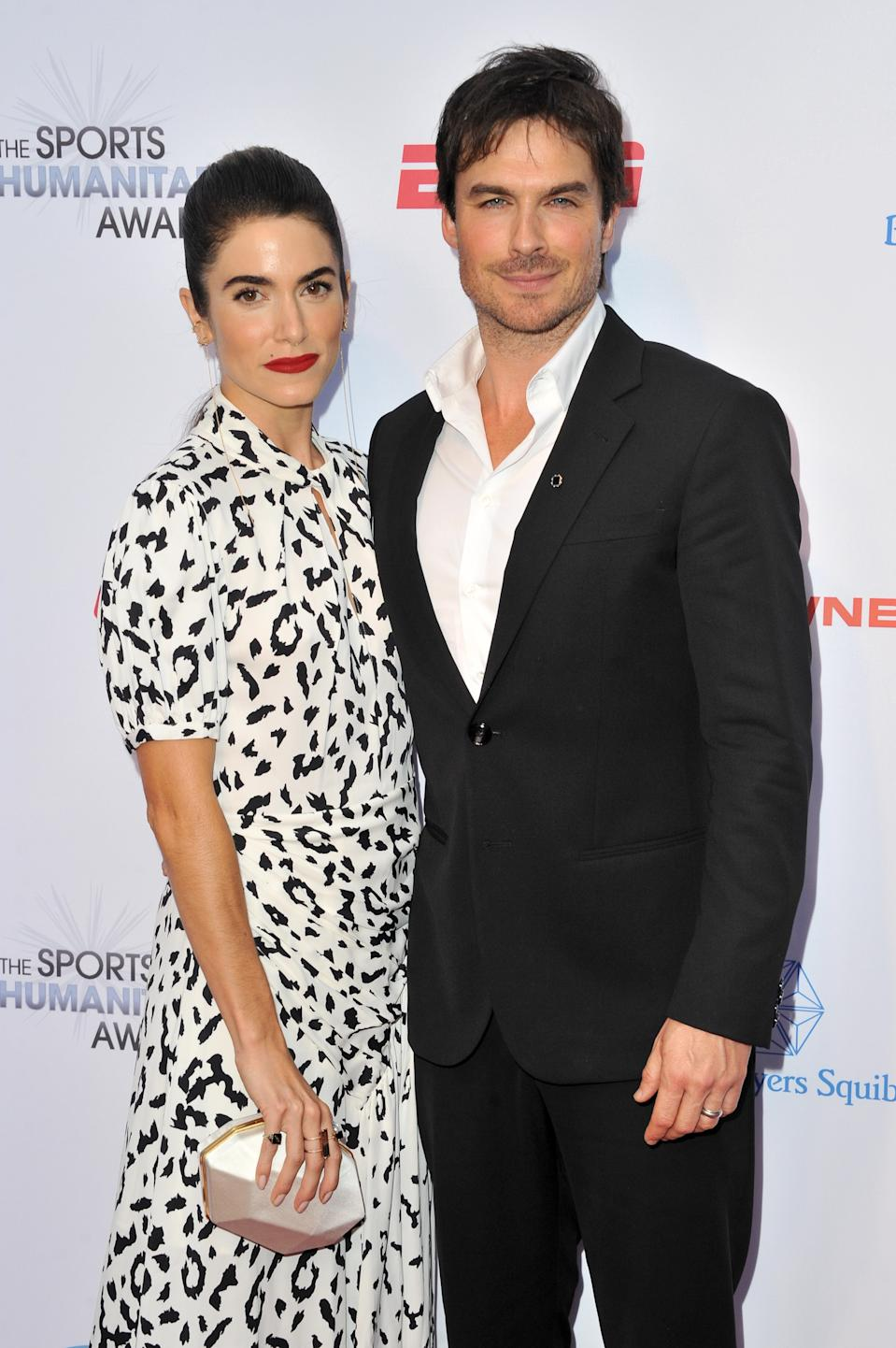 A photo of Nikki Reed and Ian Somerhalder at the 5th annual Sports Humanitarian Awards presented by ESPN at The Novo Theater at L.A. Live on July 09, 2019 in Los Angeles, California.