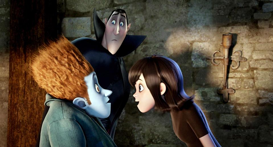 "<p>Monsters need vacations too, which is the premise behind this sweet animated feature starring the voices of Adam Sandler as Count Dracula and Selena Gomez as his daughter, Mavis. It's a family-friendly film everyone can enjoy this Halloween.</p> <p><a href=""https://www.glamour.com/story/freeform-nights-of-halloween-schedule?mbid=synd_yahoo_rss"" rel=""nofollow noopener"" target=""_blank"" data-ylk=""slk:Available on Freeform's 31 Nights of Halloween"" class=""link rapid-noclick-resp""><em>Available on Freeform's 31 Nights of Halloween</em></a></p>"