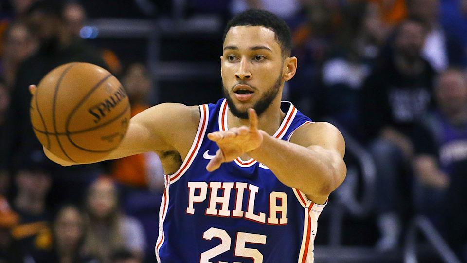 Ben Simmons put in a solid performance in his return from injury. Pic: AAP