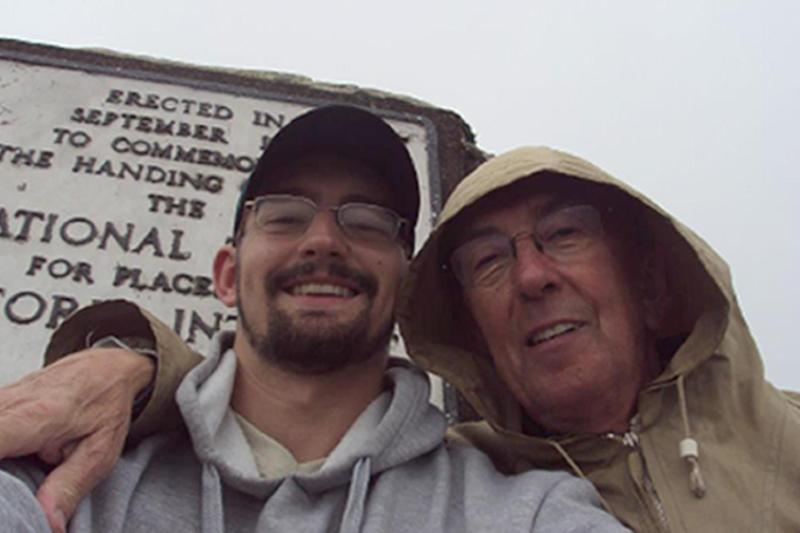 Peter Farquhar and Benjamin Field at Dunkerry Beacon (PA)